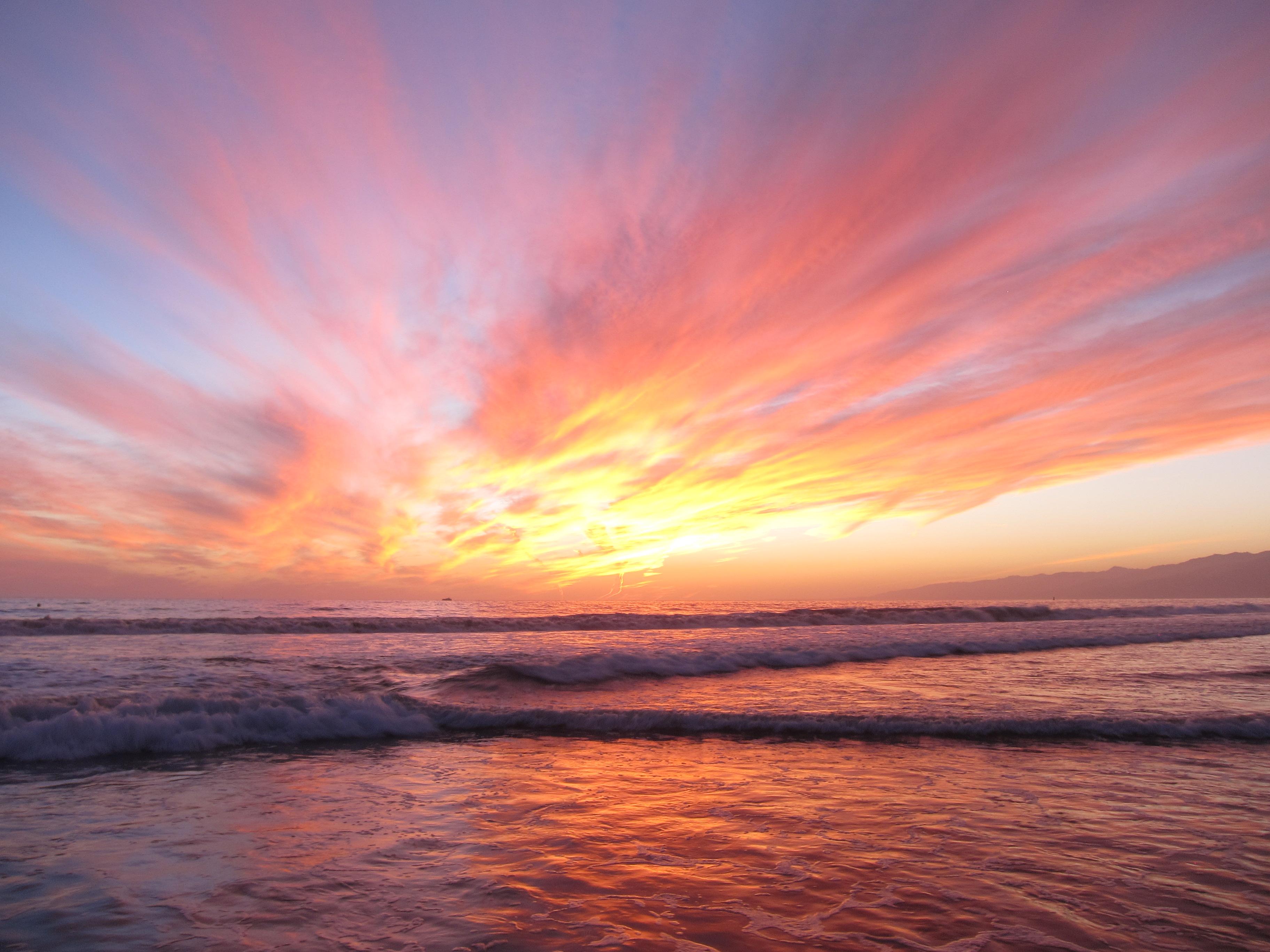 Sunset At Venice Beach Fl